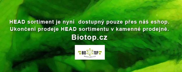 BIOTOP - HEAD sortiment pouze přes eshop