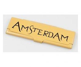 Obal na King size papírky Amsterdam zlatý