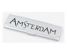 Obal na King size papírky Amsterdam stříbrný