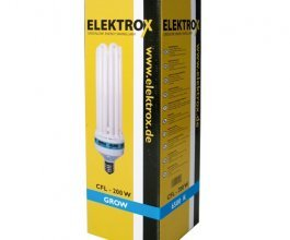 Úsporná CFL lampa ELEKTROX 200W, na růst