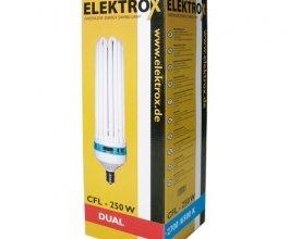 Úsporná CFL lampa ELEKTROX 250W, na růst i květ