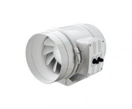Ventilátor s termostatem Vents/Dalap 125 U-T, 220/280m3/h
