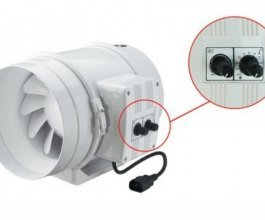Ventilátor s termostatem Vents/Dalap 315 U-T, 1760/2350m3/h